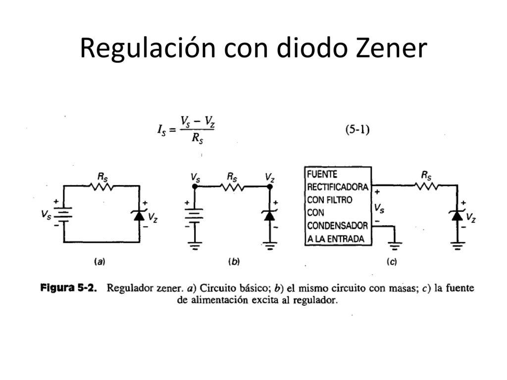 Circuito Zener : Fuente de alimentación regulada ppt descargar