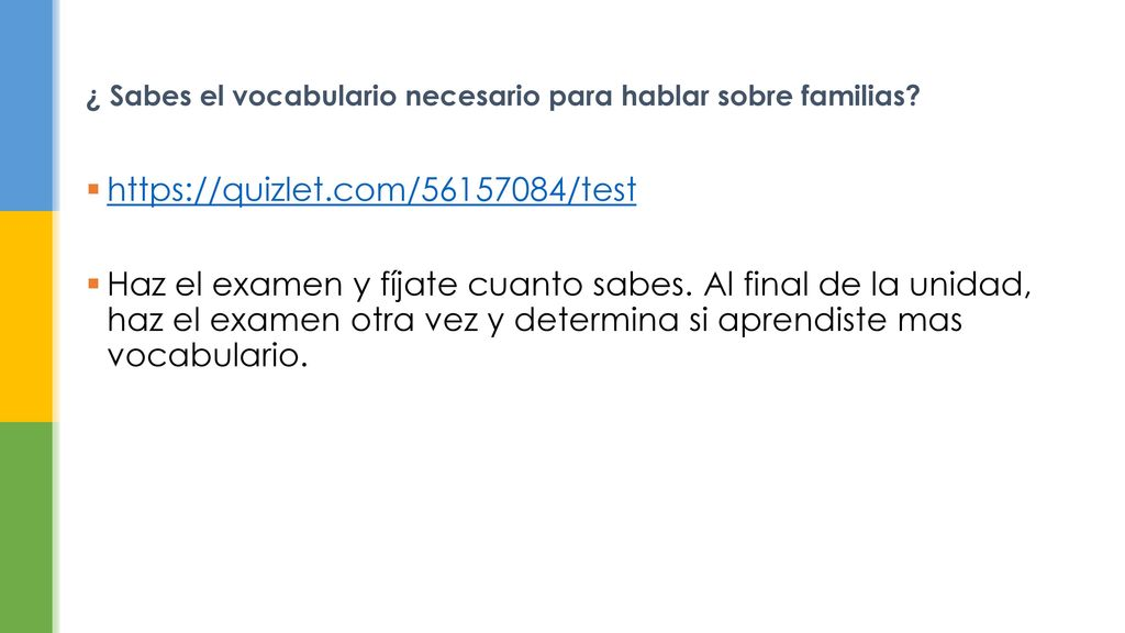 Familias Español 3 No Natios  - ppt descargar