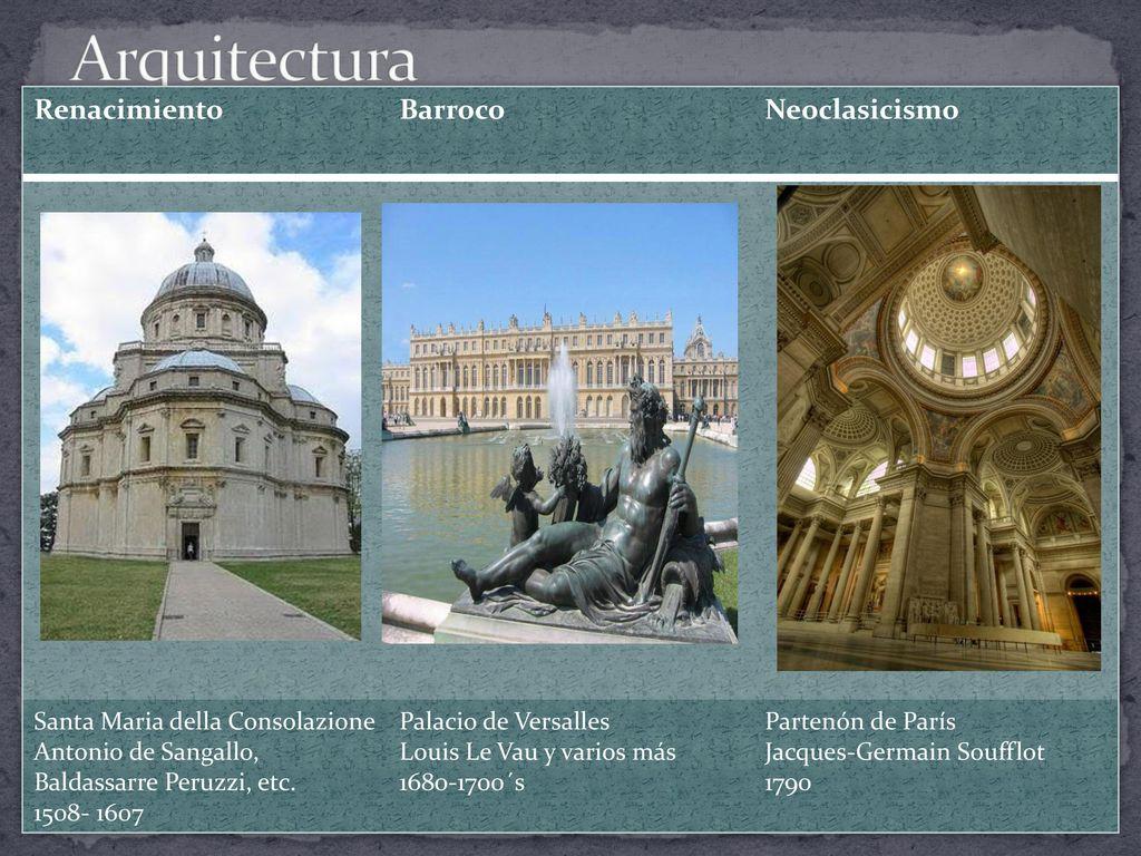 Comparación del Renacimiento, Barroco y Neoclasicismo - ppt
