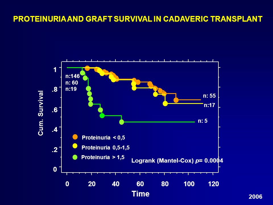 PROTEINURIA AND GRAFT SURVIVAL IN CADAVERIC TRANSPLANT
