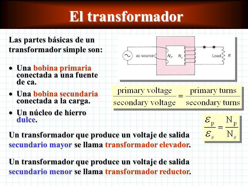 El transformador Las partes básicas de un transformador simple son: