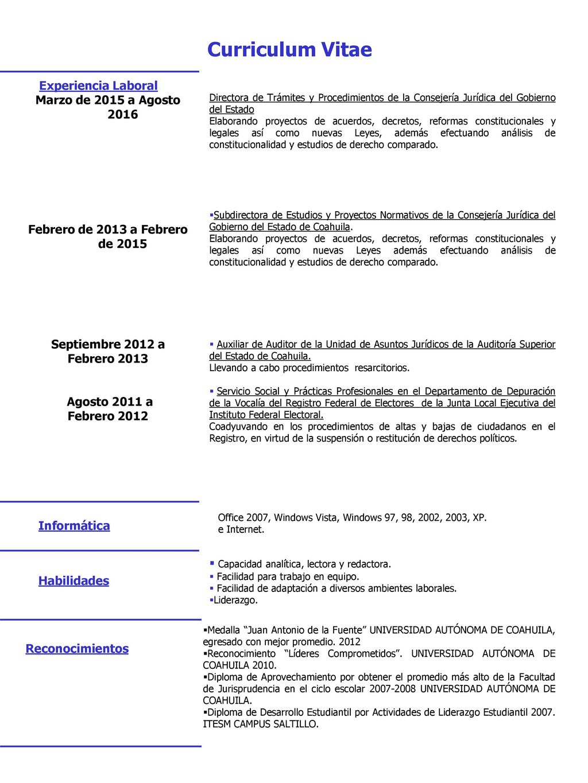 Curriculum Vitae Formación Académica 2013 a la fecha 2007 – ppt ...