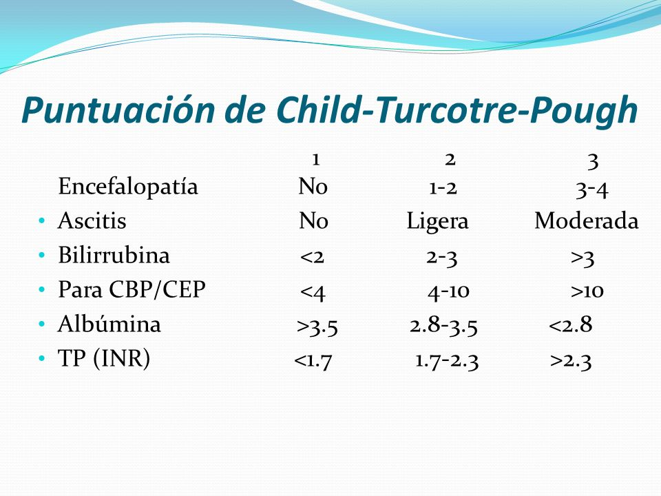 Puntuación de Child-Turcotre-Pough