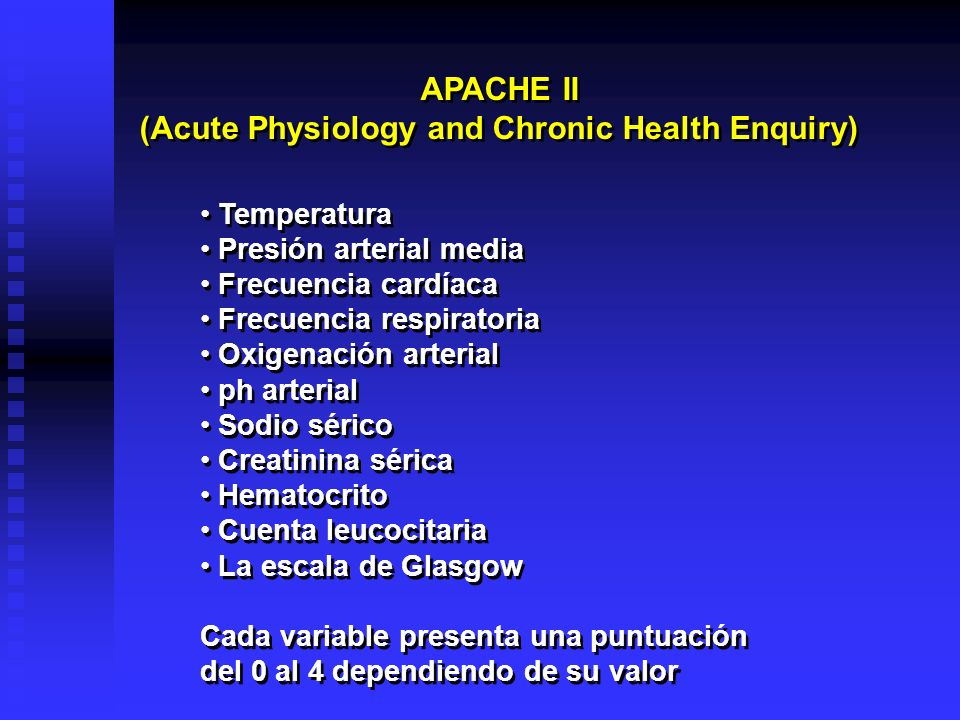 (Acute Physiology and Chronic Health Enquiry)