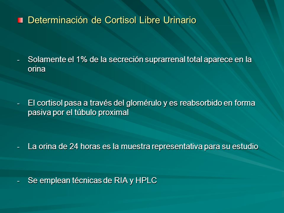 Determinación de Cortisol Libre Urinario