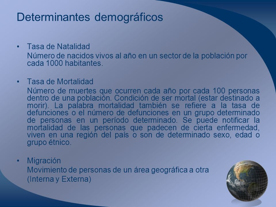 Determinantes demográficos