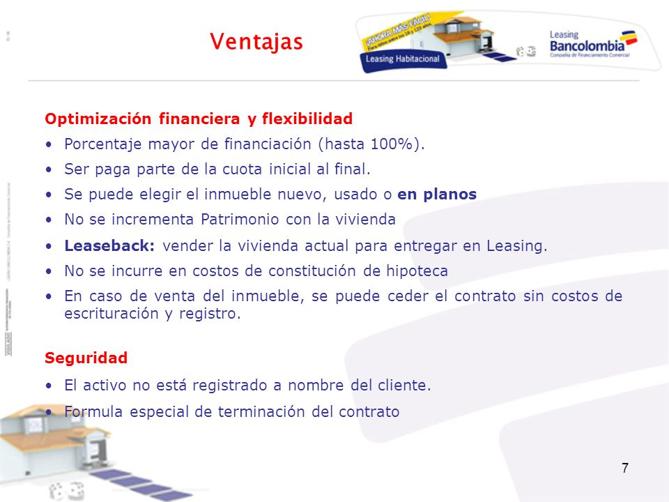 Ventajas Optimización financiera y flexibilidad