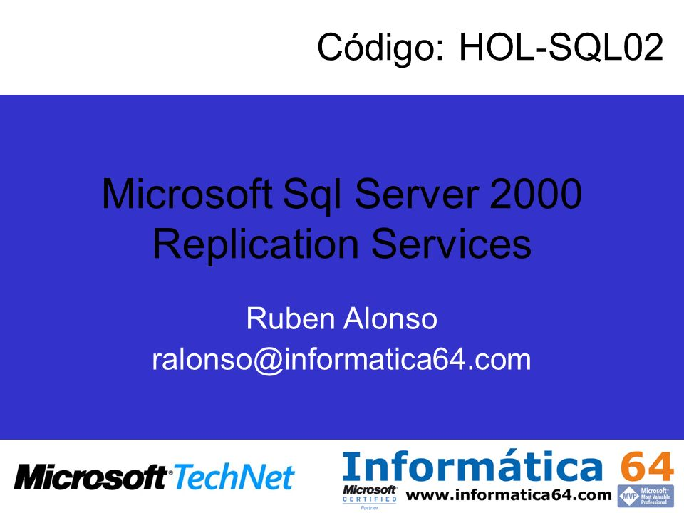Microsoft Sql Server 2000 Replication Services