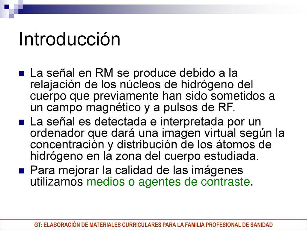medios de contraste usados en resonancia magnetica