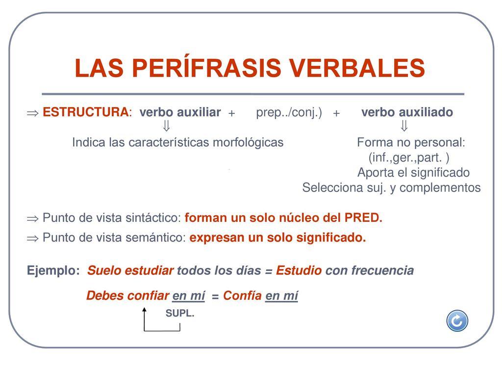 Unidad 5 las per frasis verbales ppt descargar Clausula suelo definicion