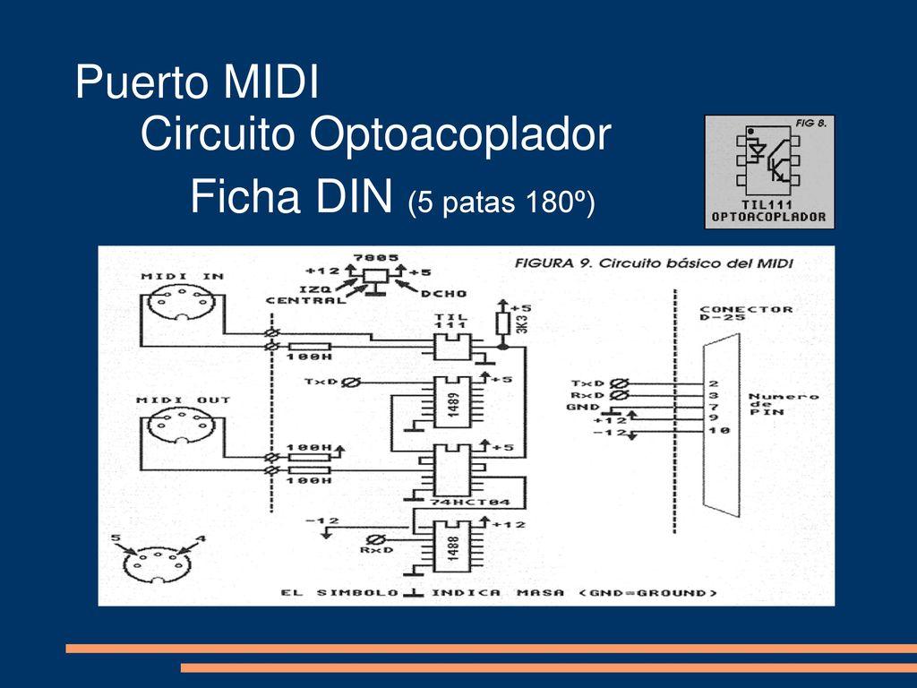 Circuito Optoacoplador : Midi m usical i nstrument d igital i nterface. ppt descargar