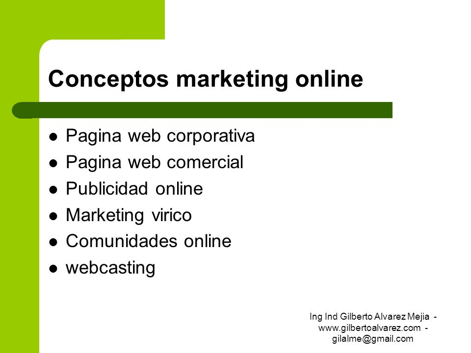 Conceptos marketing online