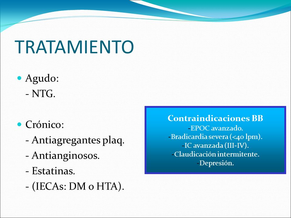 Contraindicaciones BB