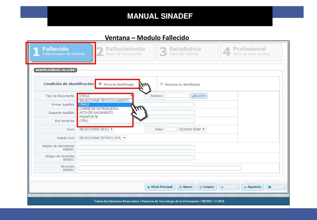 Sinadef Introducción Manual De Usuario Ppt Descargar