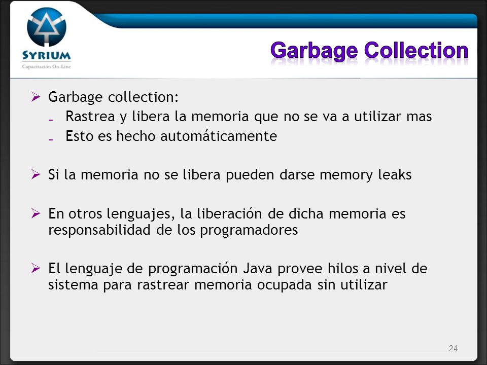 Garbage Collection Garbage collection: