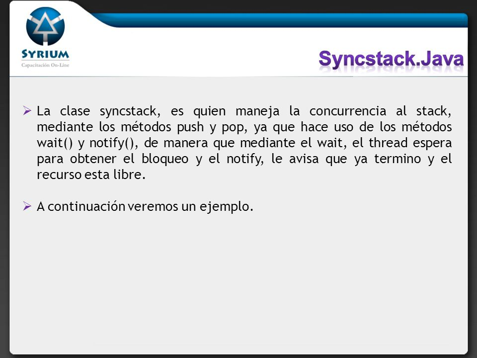 Syncstack.Java