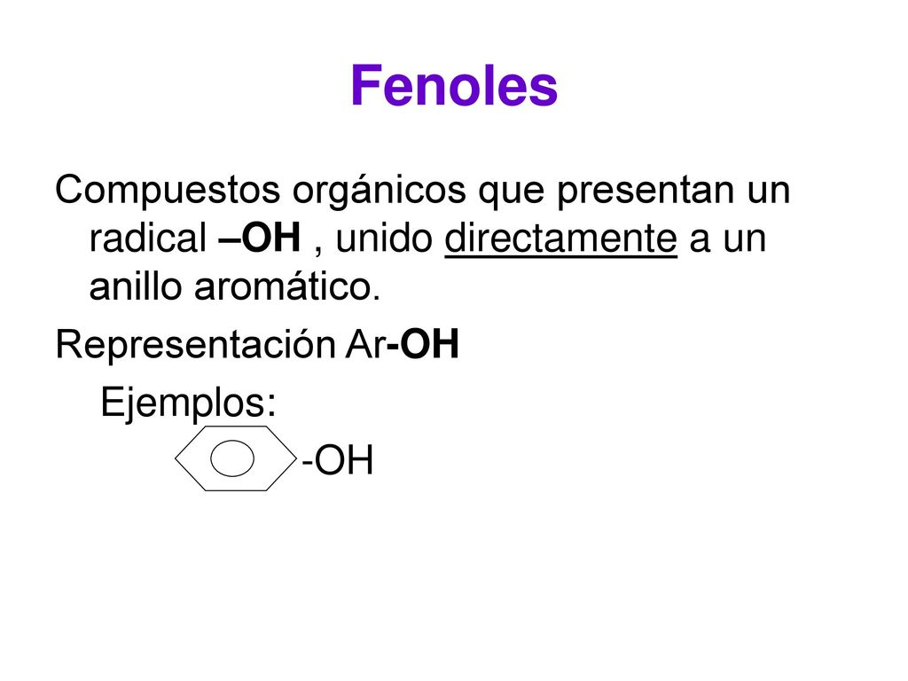 Ejemplos De Fenoles