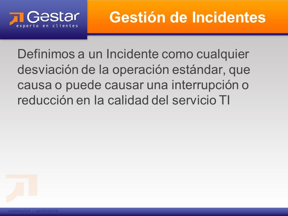Gestión de Incidentes