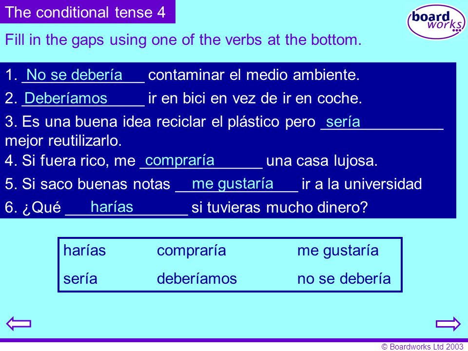 Fill in the gaps using one of the verbs at the bottom.