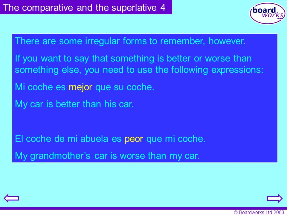 The comparative and the superlative 4