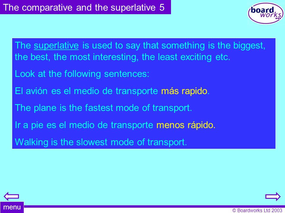 The comparative and the superlative 5