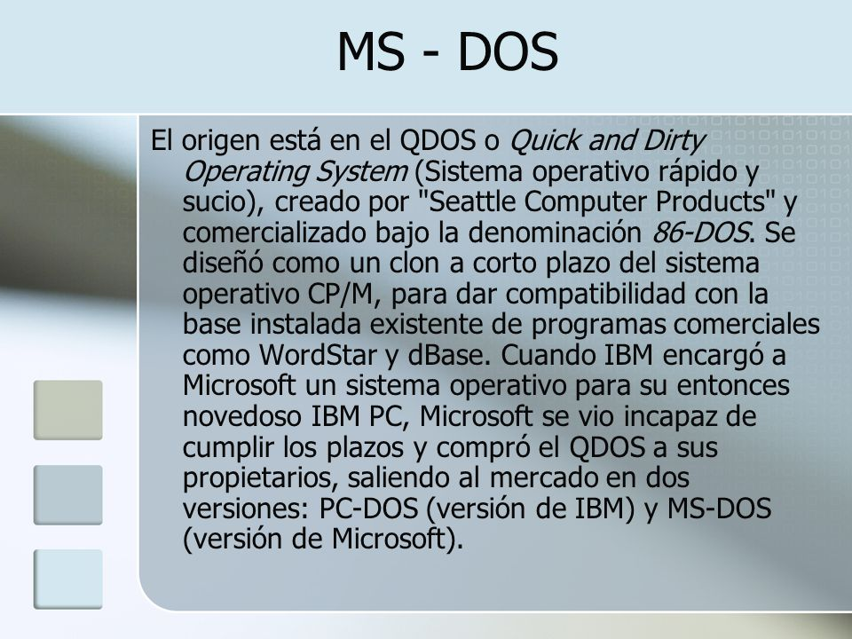 MS - DOS