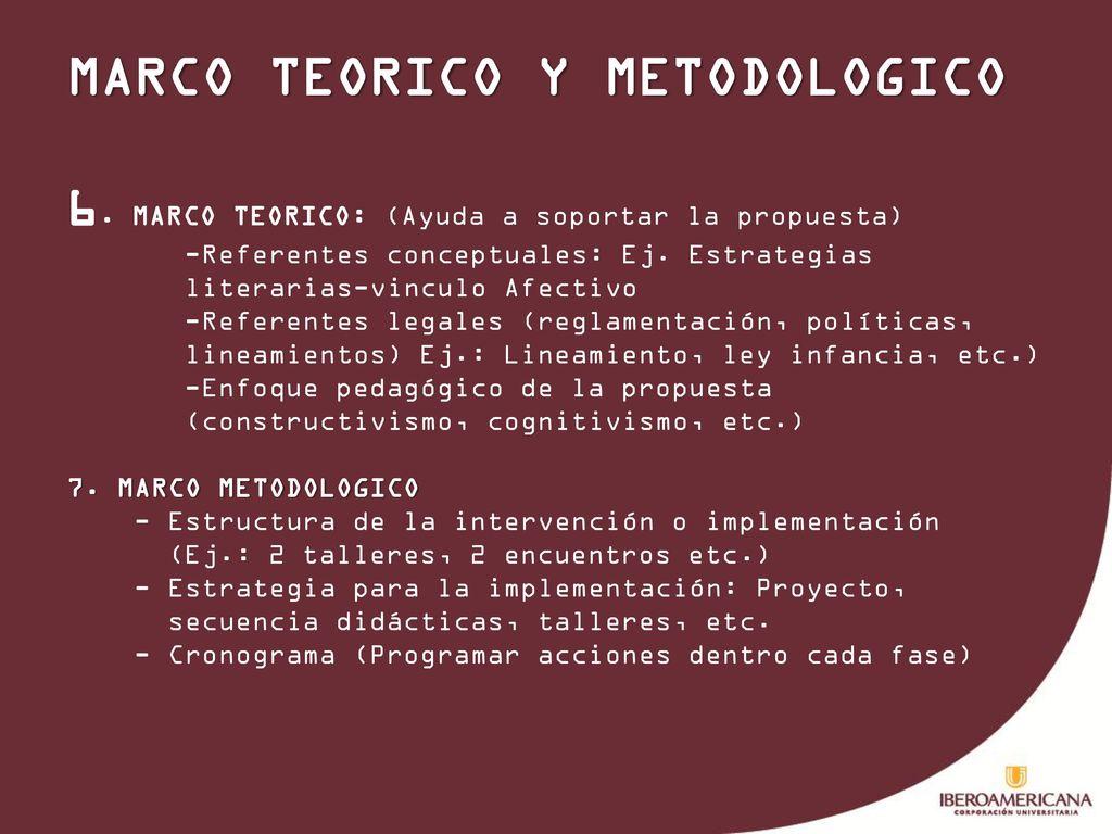 DISEÑO DE LA PROPUESTA DE INTERVENCION PEDAGOGICA MARCO TEORICO Y ...