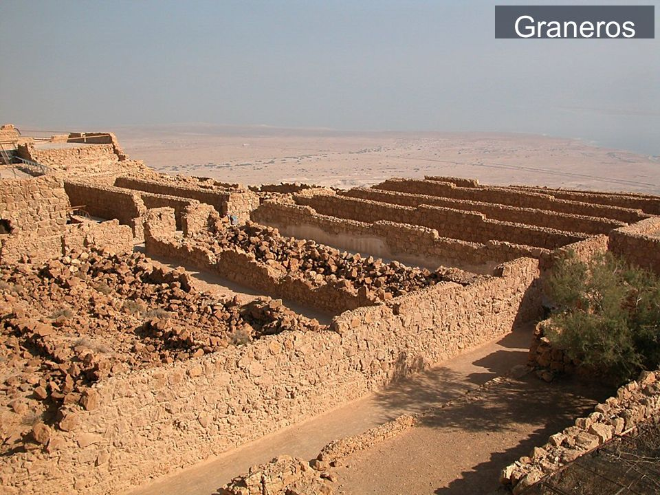 Masada storehouses from south