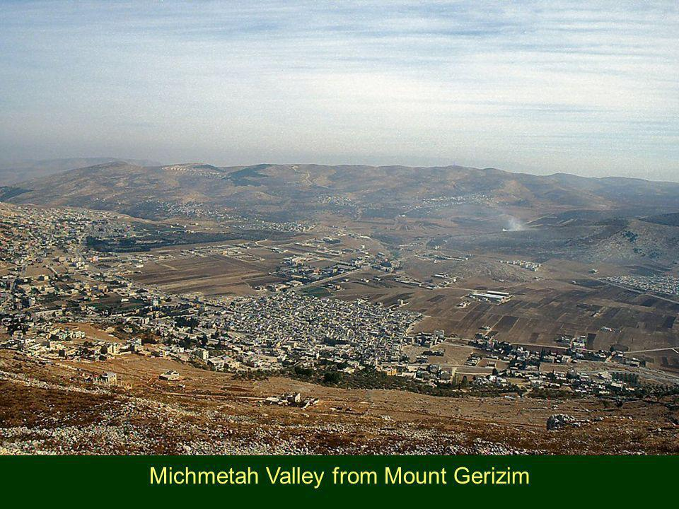 Michmetah Valley from Mount Gerizim
