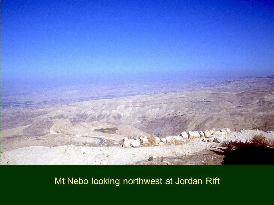 Mt Nebo looking northwest at Jordan Rift