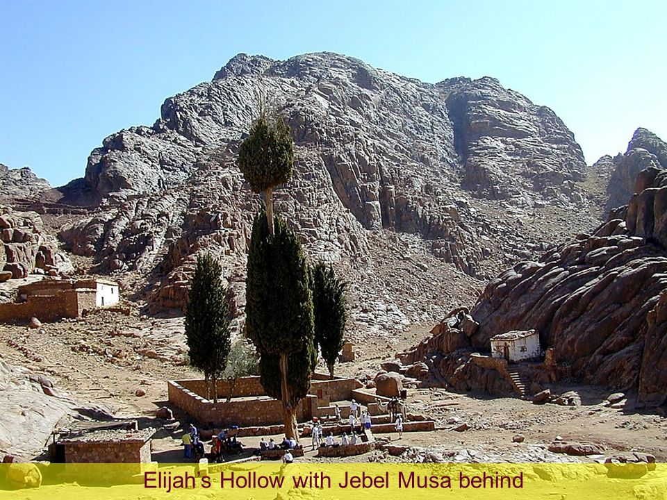 Elijah's Hollow with Jebel Musa behind