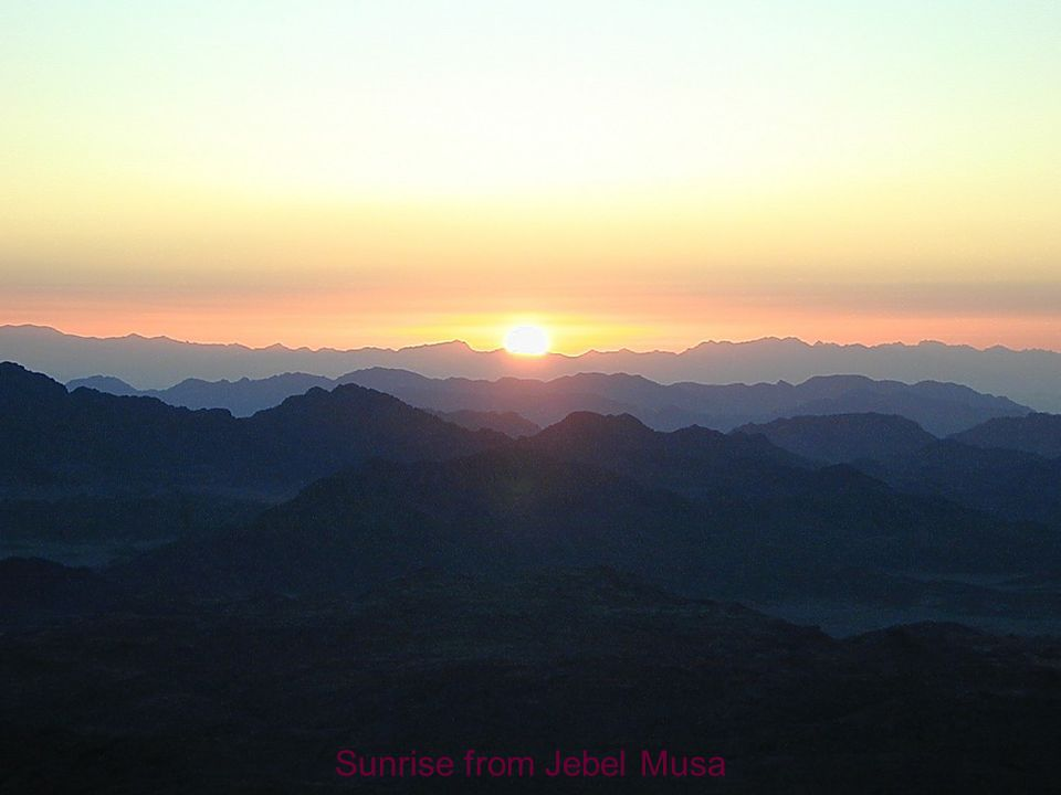 Sunrise from Jebel Musa