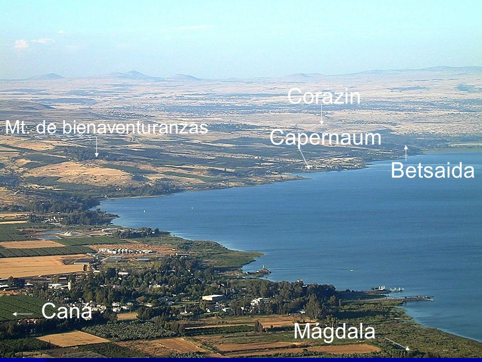 Galilee shoreline from above