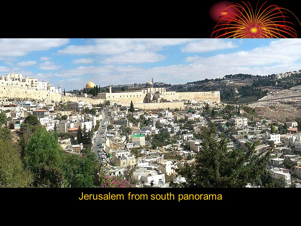 Jerusalem from south panorama