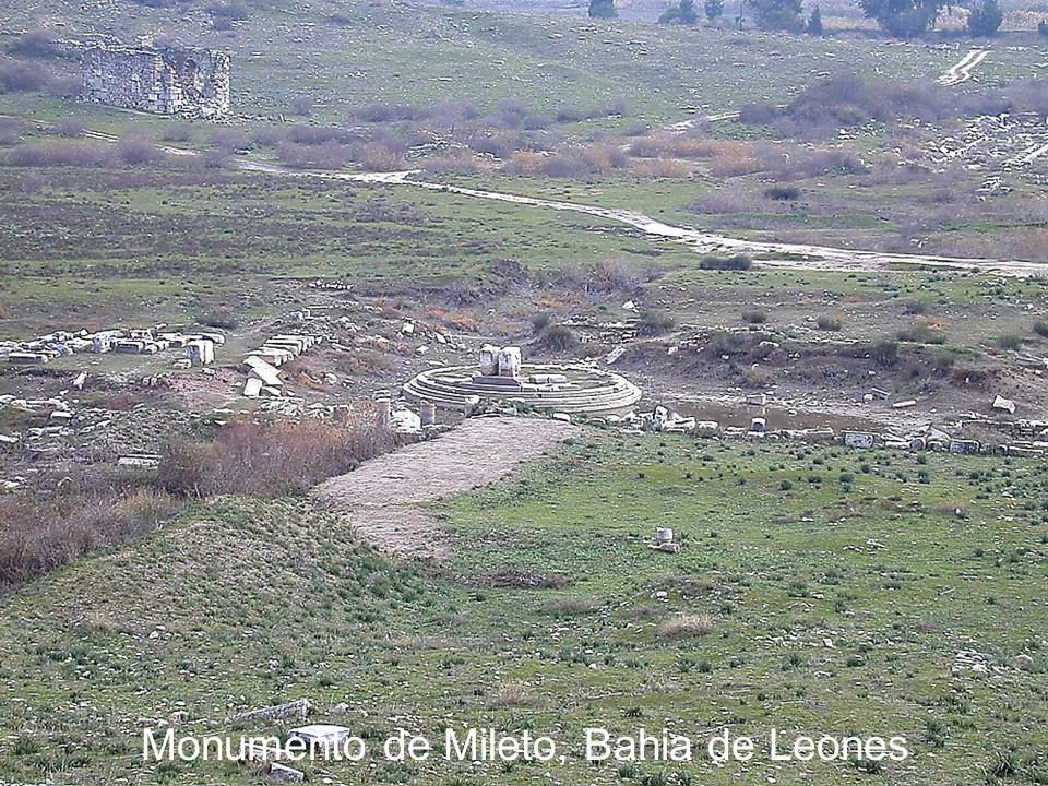 Miletus Bay of the Lions monument