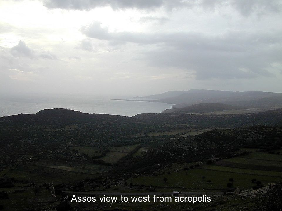Assos view to west from acropolis