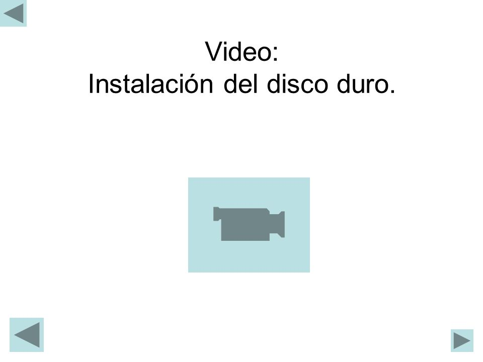Video: Instalación del disco duro.