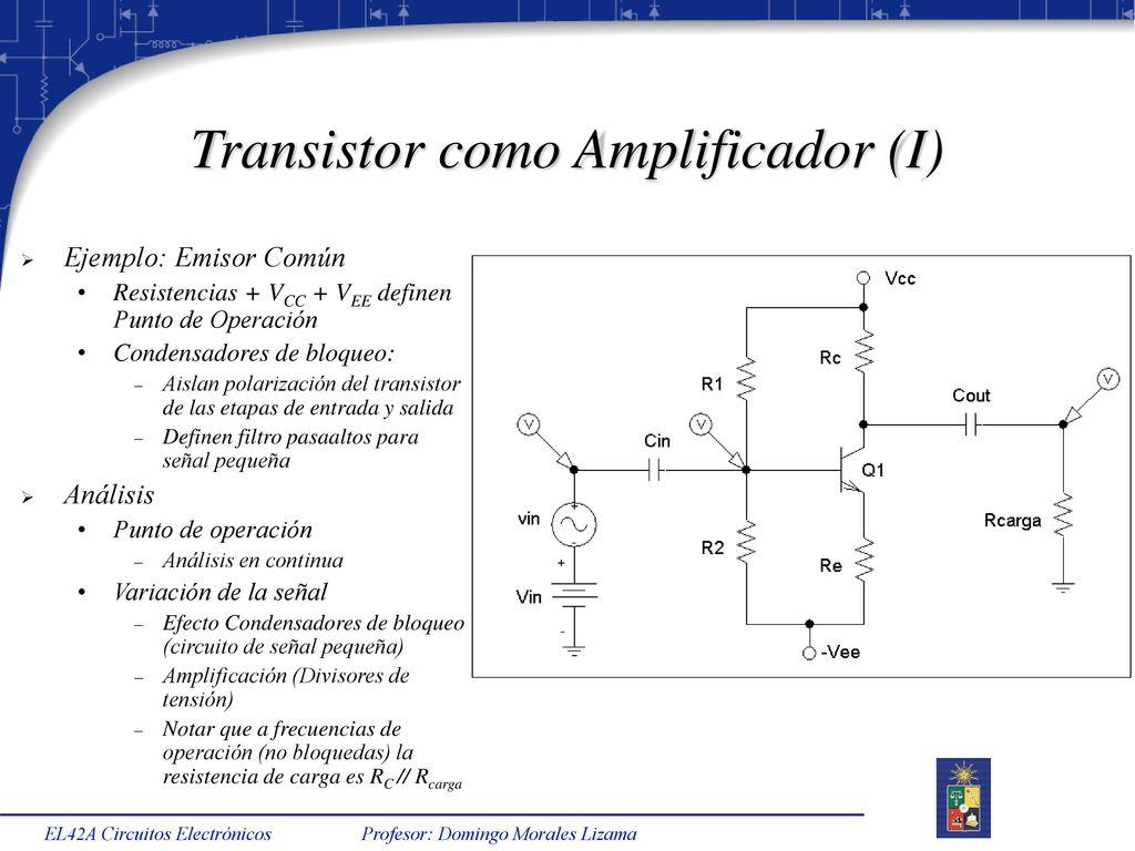 Circuito Transistor : El42a circuitos electrónicos semestre primavera ppt descargar