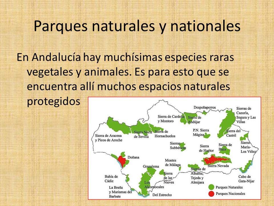 Parques naturales y nationales