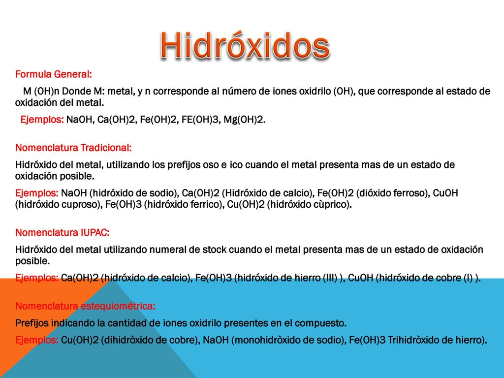 Nomenclatura de Óxidos e Hidróxidos - ppt descargar
