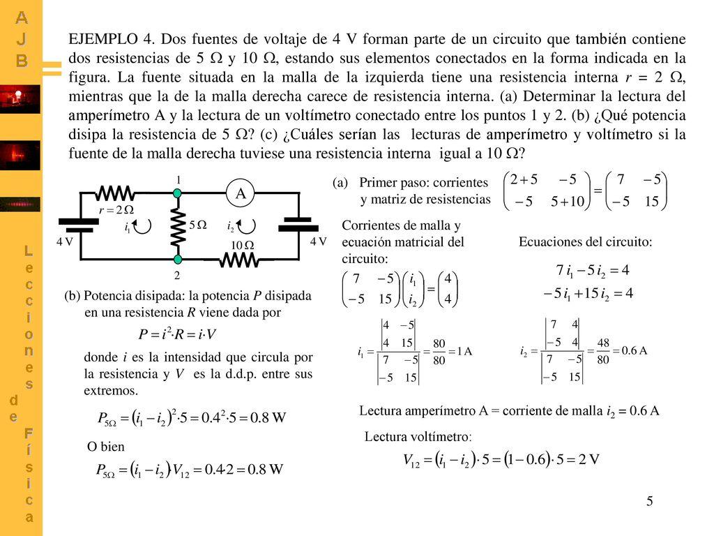 Circuito Que Es : A ejemplo acerca del circuito de dos mallas de la figura