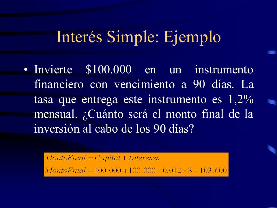 Interés Simple: Ejemplo