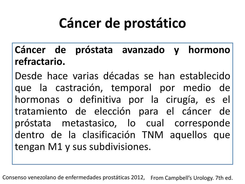 cancer de prostata hormonorefractario