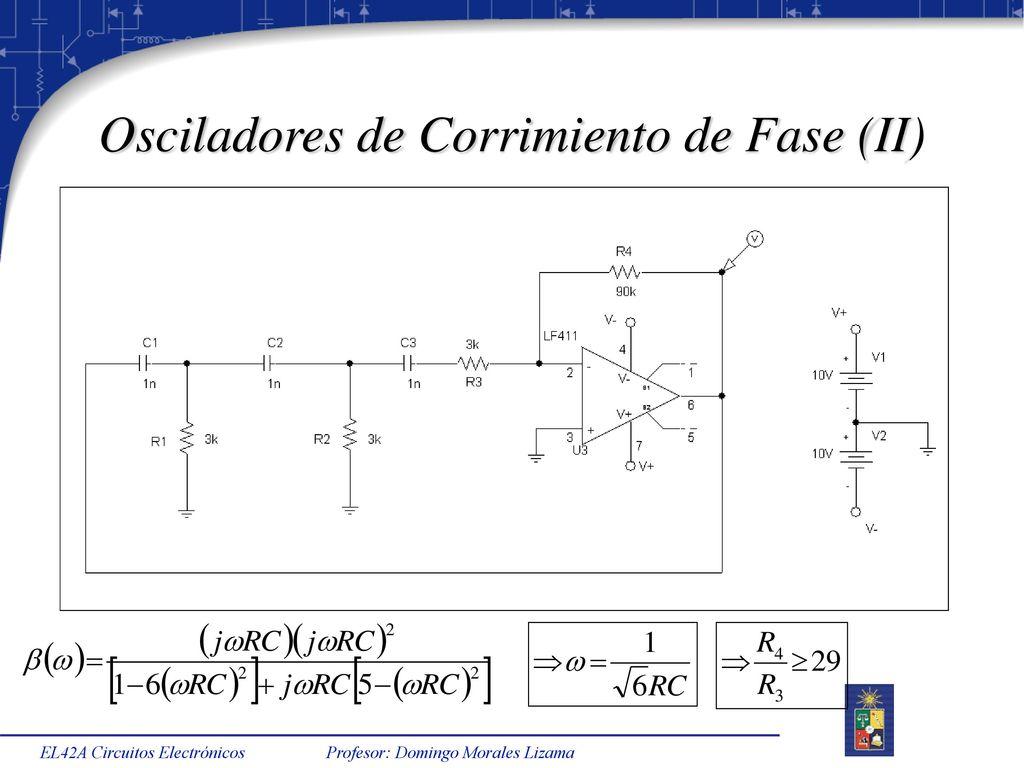 Circuito Oscilador : El a circuitos electrónicos semestre primavera ppt descargar