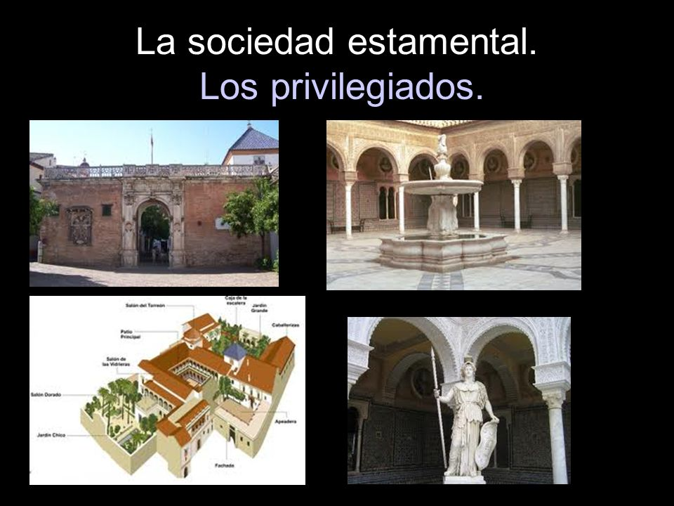 La sociedad estamental. Los privilegiados.