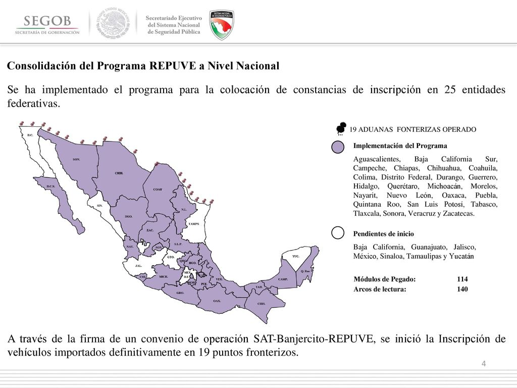 Registro Público Vehicular Reporte Estadístico De Avances