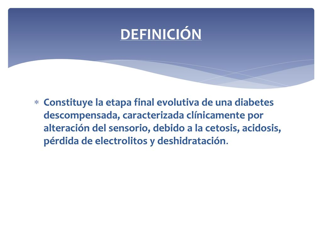 diabetes descompensada definicion