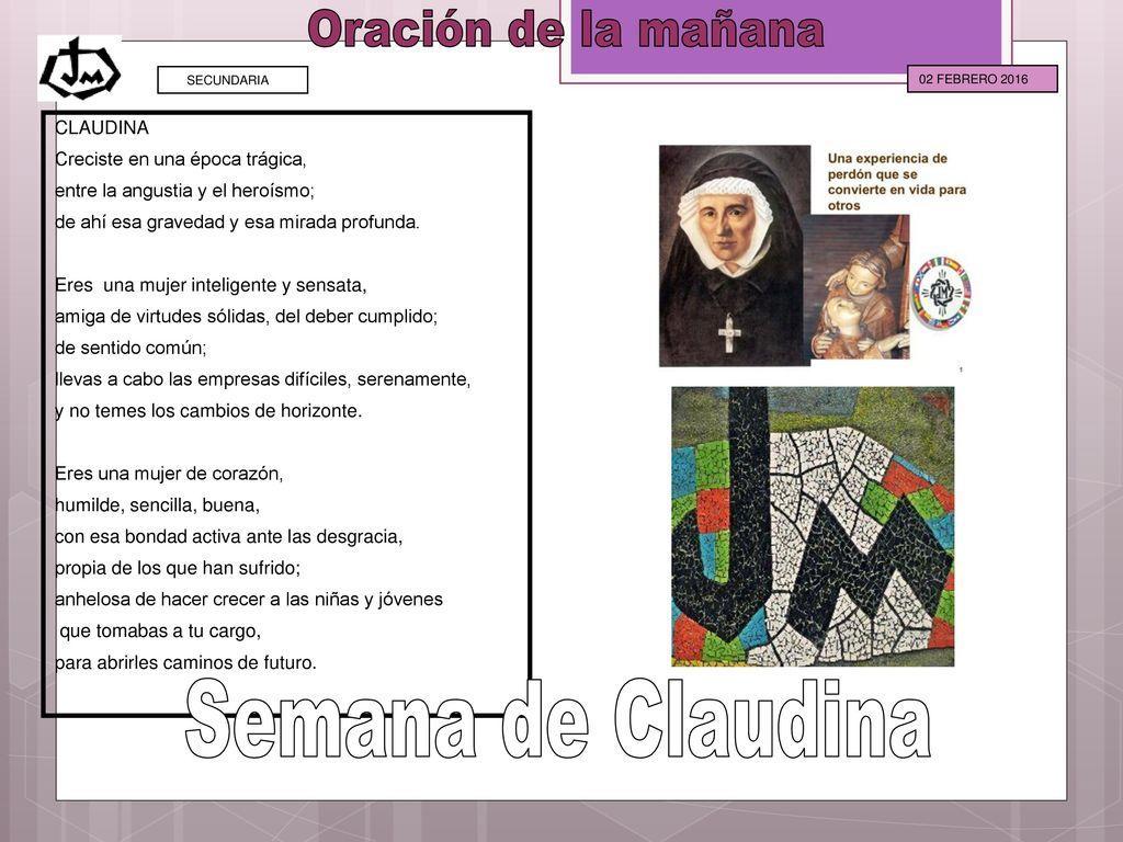 Oración de la mañana Semana de Claudina CLAUDINA - ppt descargar