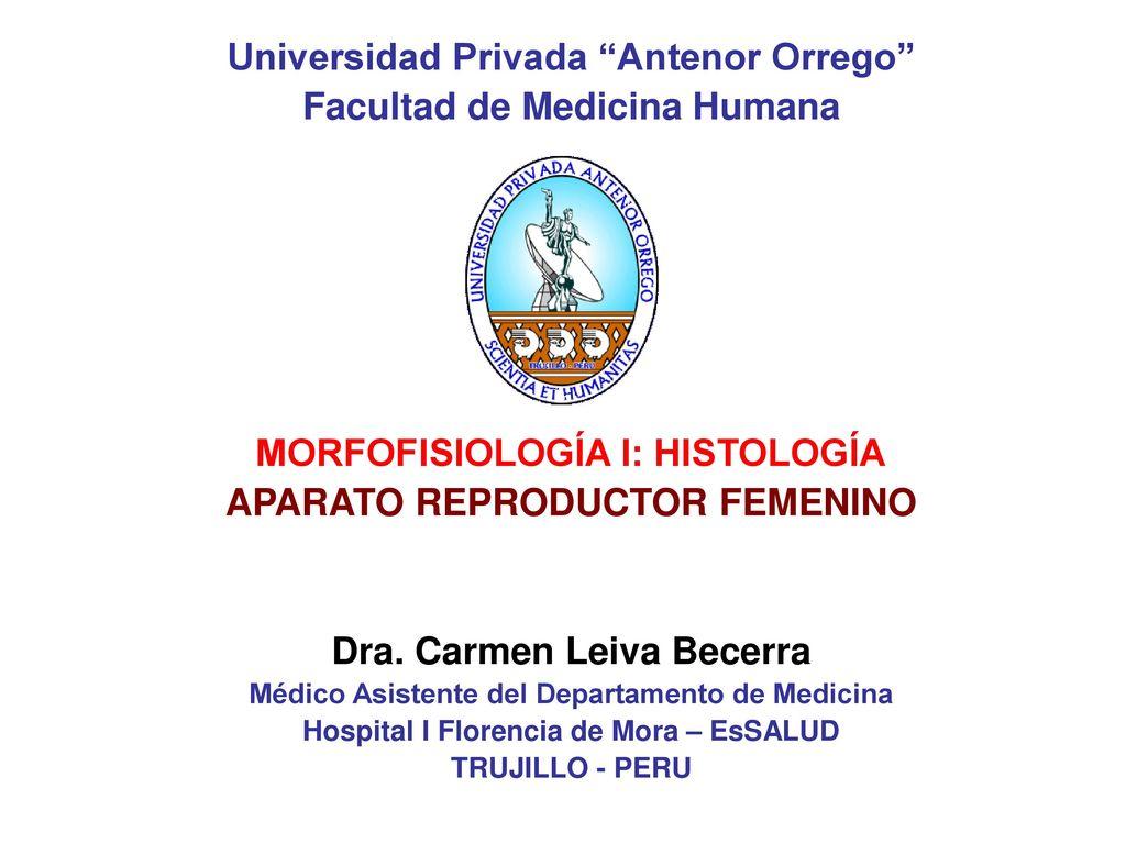 """Universidad Privada """"Antenor Orrego"""" Facultad de Medicina Humana ..."""