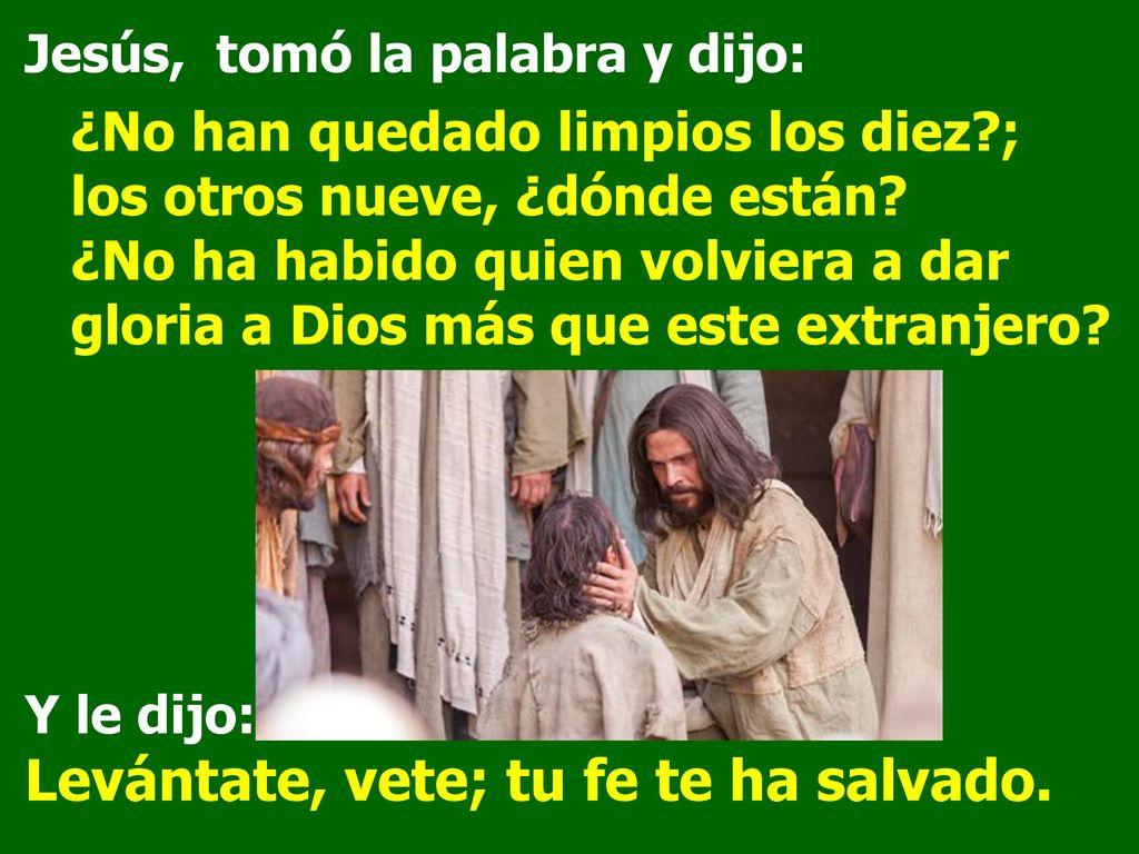 Resultado de imagen de ¿No ha habido quien volviera a dar gloria a Dios más que este extranjero?